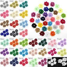 30mm DIY 10-<b>50</b>-<b>100PCS</b> Satin Ribbon Flower with pearl Wedding ...