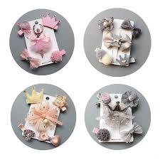 <b>5pcs</b>/<b>set</b> Princess <b>Hairpin</b> Headdress Clips Fabric <b>Flower</b> ...