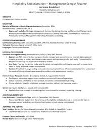 hospitality resume templates for excel  pdf and wordhospitality administration management sample resume