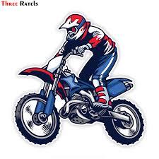 Three Ratels LCS030# <b>15x15cm</b> motocross ride <b>the</b> bike colorful car ...