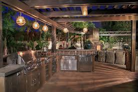 gallery outdoor kitchen lighting: encinitas bbq island outdoor kitchen with lighting