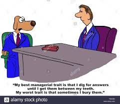 business cartoon about job search the business dog is saying his business cartoon about job search the business dog is saying his best and worst traits