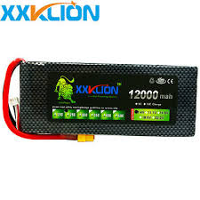 <b>XXKLION</b> 7.4V 12000mAh 25C 2S <b>LiPo Battery</b> Pack XT60 Plug for ...