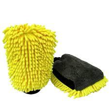 Orange <b>Chenille</b> Coral Velvet <b>Car Wash Gloves</b> Household ...