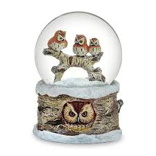 """Winter <b>Wonderland</b>"" Musical owl globe! <3<3<3 #winterwonderland ..."