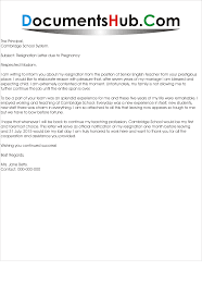 resignation letter due to pregnancy documentshub com resignation letter due to pregnancy