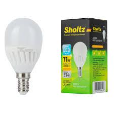 <b>Лампа светодиодная Sholtz</b> 11 Вт E14 <b>шар</b> G45 2700 К теплый ...