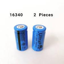 <b>2 PCS</b> Ultrafire XZ 16340 3.7V <b>1800mAh Li</b>-<b>ion</b> Rechargeable ...