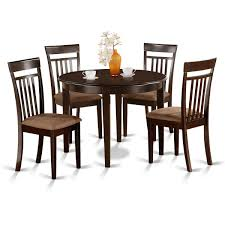 4 chair kitchen table: east west furniture boston  piece x round small kitchen table set w  chairs
