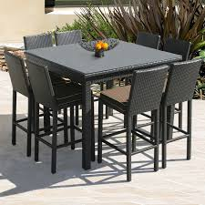 bar height patio chair: bar height outdoor table and chairs bxb