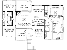 Freeman Split Level Home Plan D    House Plans and MoreRanch House Plan First Floor   D    House Plans and More