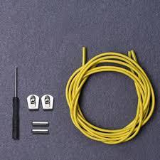 <b>1 pair Lazy Shoelaces</b> Elastic No Tie Locking Round Shoe Laces ...