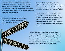 resume resume weakness resume weakness template full size