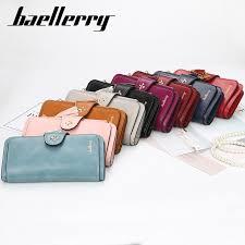 Baellerry Hot Women Long <b>PU Leather</b> Wallet Multi-card Zipper ...