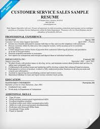 examples of customer service resume  customer service skills    sales resume samples customer service