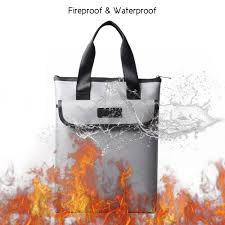15 * 11inch <b>Portable Fireproof Document Bag</b> Holder Pouch ...