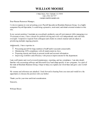 best payroll specialist cover letter examples livecareer edit