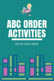 best images about school library ideas library abc order activities for the school library get more school library ideas at