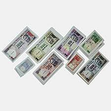 Buy Math Laminated paper and coins Play money notes and coins ...