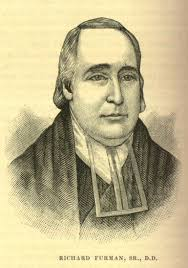 Rev. Richard Furman ~ The right of holding slaves is clearly established in the Holy Scriptures, both by precept and example