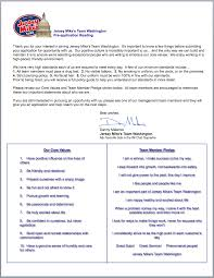 pre application reading jmteamwashingtonall prior to filling out an application for employment jersey mike s team washington please the following letter to help ensure you understand some