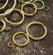 Gold Plated Split Jump Rings You Pick Size 5mm 8mm <b>10mm</b> | Etsy