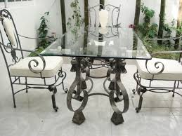 rectangular glass top wrought iron dining table wood wrought iron dining room sets decor
