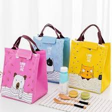 Cartoon <b>Portable</b> Thermal Insulation Cooler <b>Bags Lunch Bag Tote</b> ...