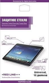 """Защитное стекло для планшета <b>универсальное</b> 10.0"""", <b>Redline</b>"""