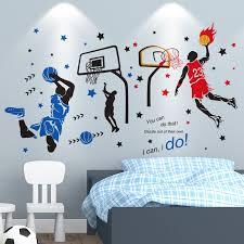 [<b>SHIJUEHEZI</b>] <b>Basketball Player Wall</b> Stickers Creative Sports Style ...