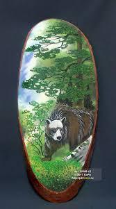 """Срез дерева с рисунком """"<b>Медведь</b>"""" СД-3 (анималистика)"""