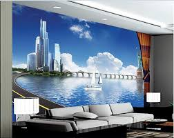 liberty bedroom wall mural: custom photo d wallpaper non woven mural  d the statue of liberty building painting