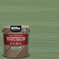 BEHR <b>Premium</b> 1 gal. #ST-132 <b>Sea Foam</b> Semi-Transparent ...