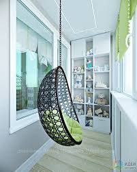 Оформление балкона, подвесное <b>кресло</b> на балконе | Дизайн ...