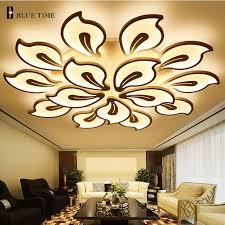 White&Black Arms <b>Modern Led Ceiling Light</b> For Living room ...