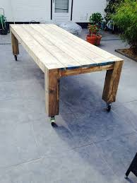 dining table with wheels: outdoor dining table wheels p r o j e c t s pinterest tables dining tables and wheels