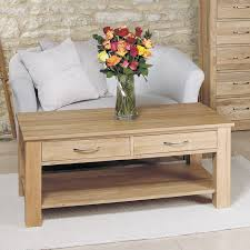 50 off light oak coffee table with drawers mobel solid oak baumhaus mobel solid oak extra