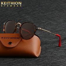 <b>KEITHION</b> Vintage Round <b>Womens Polarized Sunglasses</b> Slim Fit ...