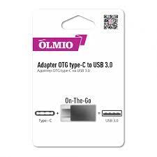 "Адаптер <b>OLMIO</b> ""On-The-<b>Go</b>"" <b>type</b>-<b>C</b> to USB 3.0 Артикул:202582"