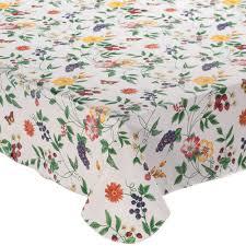 Lintex Enchanted Garden 60 in. x 84 in. <b>100</b>% Vinyl <b>Tablecloth</b> ...