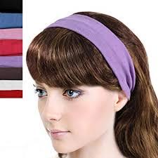 Simple Solid Color Stretch Headband - Multicolor (8 ... - Amazon.com