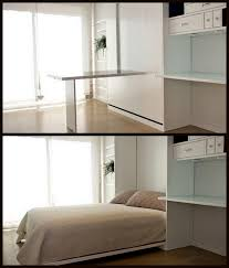 nine red spotlight murphy bed desk a pull here fold there boom youve turned this room beautiful murphy bed desk