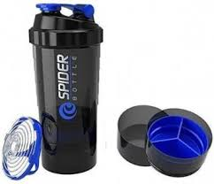 Spider Protein <b>shaker bottle</b>, 550 ml, <b>Leak proof</b>, storage container ...