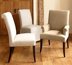 PB Comfort <b>Roll</b> Upholstered <b>Dining Chair</b> & Armchair   Pottery Barn