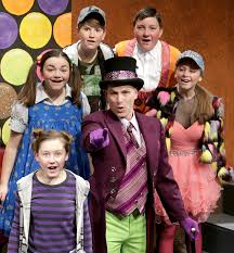 roald dahl s willy wonka des moines playhousedes moines playhouse willy wonka brad church center golden ticket holders clockwise from lower left charlie bucket ellie miglin violet beauregarde anastasia deace