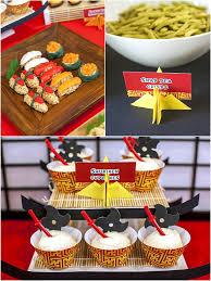 a ese origami dojo ninja birthday party party ideas party ninja ese birthday party food desserts and candy station via birdsparty com