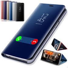 <b>Smart</b> Mirror <b>Flip Case For</b> Samsung Galaxy S8 S9 Plus S10 S10e ...