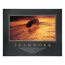 teamwork motivational poster office decor