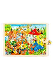 <b>Деревянная игрушка Goki Пазл</b> На стройке Goki 57670 купить за ...