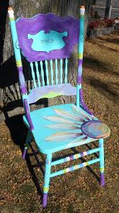 and finally the end i like to put something fun and sweet on the back these chairs will be around a table so the backs will be visible all of the time carolyn funky furniture
